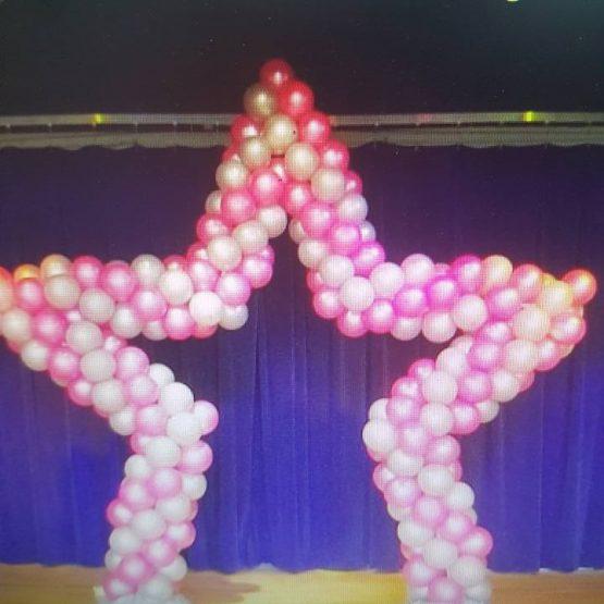 star shaped balloons