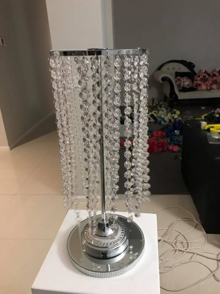 Crystal Tassle Lamp