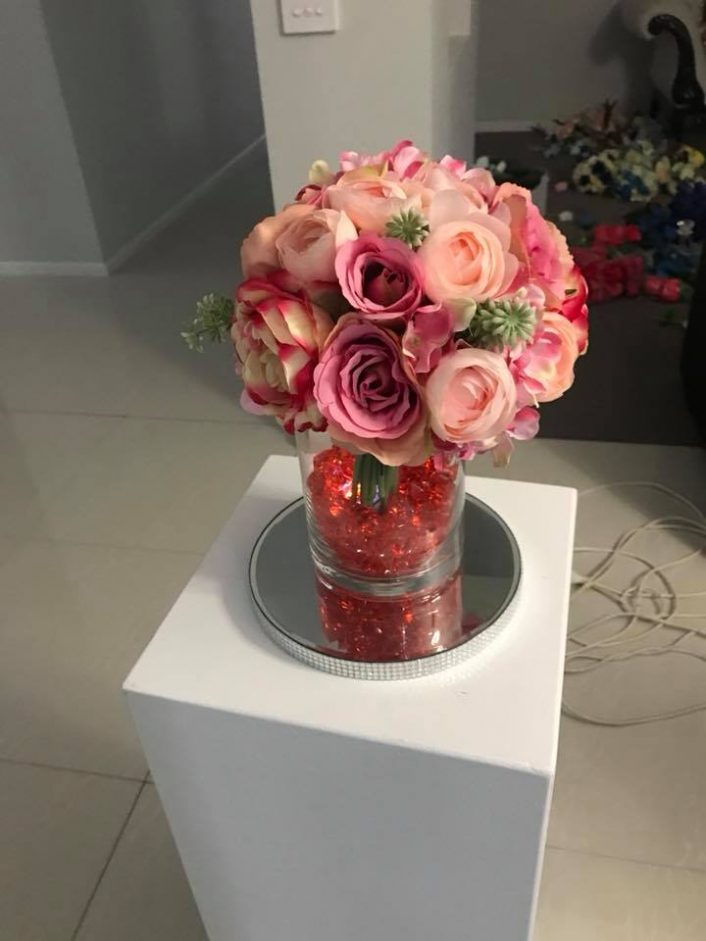 Table Centrepiece - Paper Flowers and Short Vase