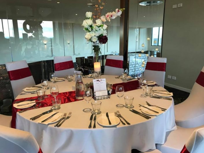 Red Theme Table Decoration