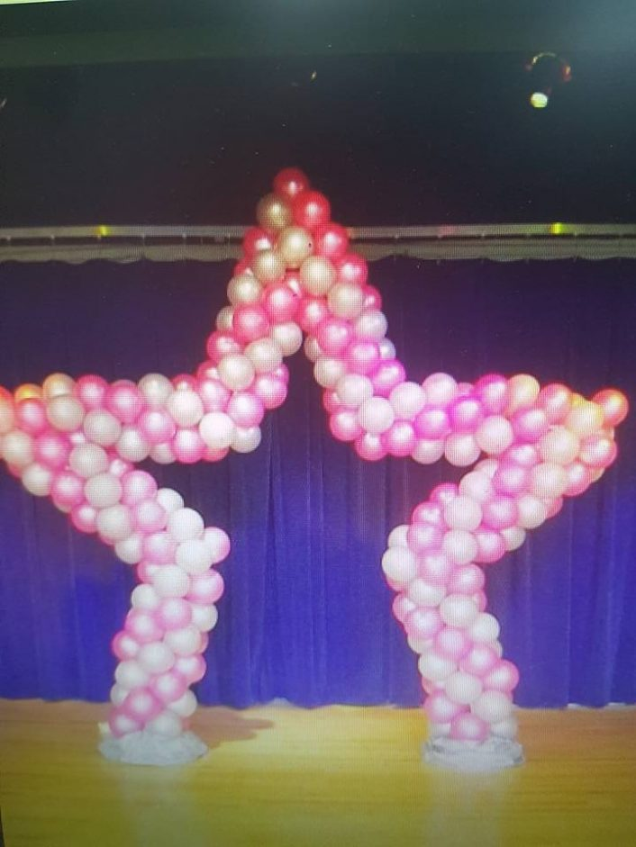 star shaped balloons